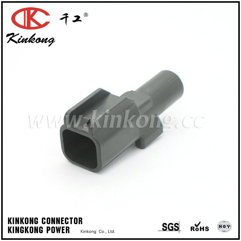 Kinkong Made In China Electrical PBT Black Female And Male 1 Pin Automotive Connector