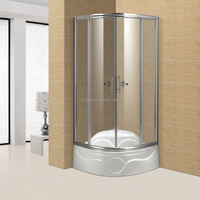 Stainless Steel Framed Arc-Shaped Bathroom Shower Cabins