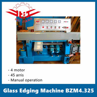 En verre de bordure machine | 4 moteurs | 45 degress arris | manuel | BEIJIANG BZM4.325
