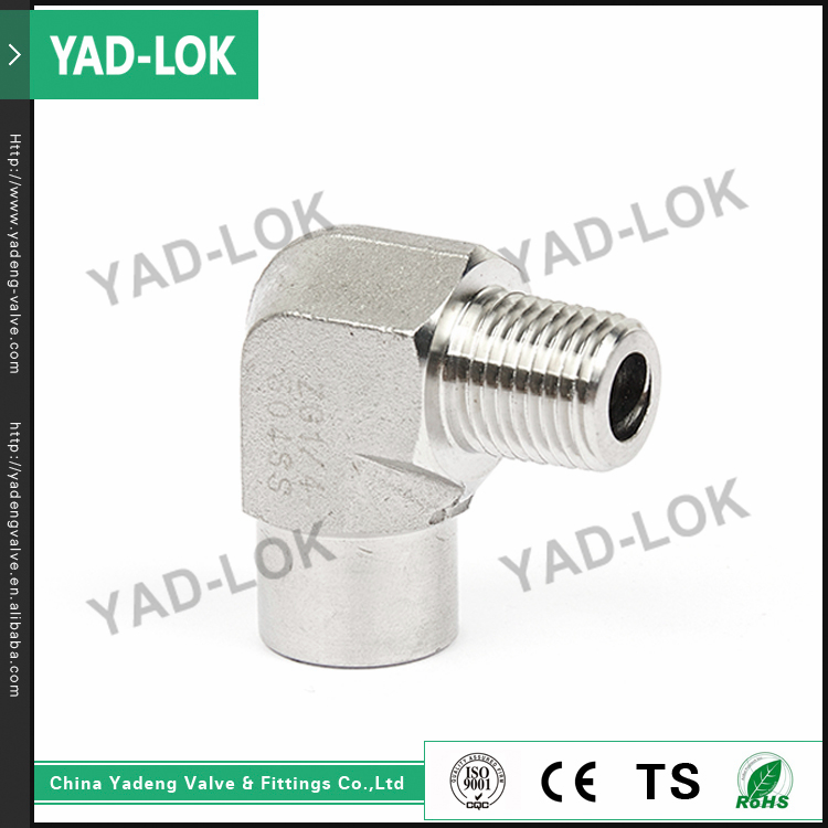 YAD-LOK Medium Temperature Male Threaded 45 Degree Tube Fitting Pipe Elbow