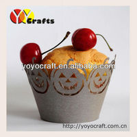 2014 surprise Halloween's Day customized laser cut pumpkins cupcake wrappers