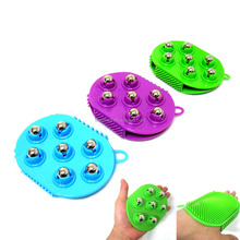 Silicone glove magnetic massage roller