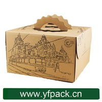 China Supplier Custom Clear PVC Window Kraft paper Cake Box For Wholesale