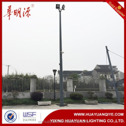 Octagonal steel folding pole for light