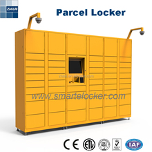 Safe intelligent steel parcel electronic coin delivery locker for barcode pincode RFID Fingerprint Facial charging