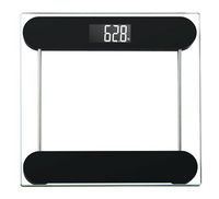 180kg Transparent Digital Bathroom Scale Toughened glass electronic weight scales Black backlit electronic body scale NV-B264