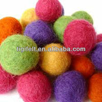 Colorful Felt Ball For Festival Celebration