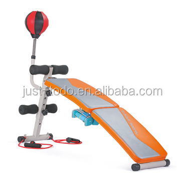 Indoor Exercise Bench Sit Up Bench With Speed Ball Ropes Dumbbell