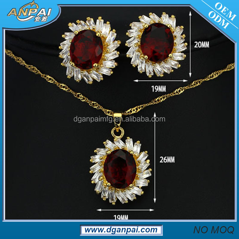 Fashion style indian coral beads necklace jewelry set 2 gram gold plated jewellery sets with cz stones