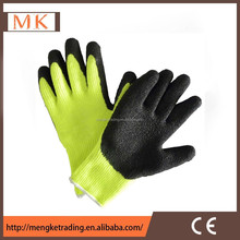 yellow latex gloves for women farm working