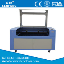 SF1410T two heads laser engraving and cutting machine with leather cutting