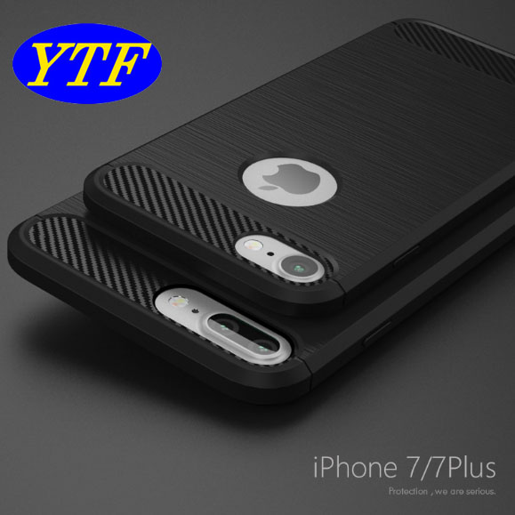 Amazon top selling 1.5mm thick carbon fiber brushed TPU case for Iphone 6 4.7inch