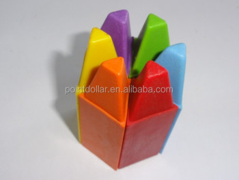 Elegant Design & Brilliant Colours Triangle Crayons/ Non-Toxic & Safety Wax Crayons for School Children and Students