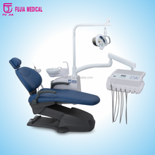 Fujia has Dental unit with down hand instrument tray deluxe integrate rotable ceramic spittoon dental chair unit for sale