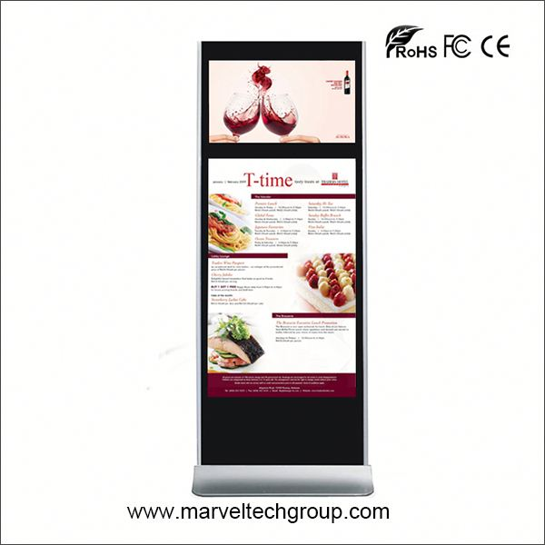 55 inch floor stand digital signage 7inch