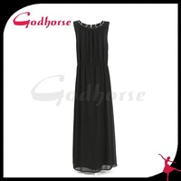 European style sexy latest fashion dress design black long sex prom dress