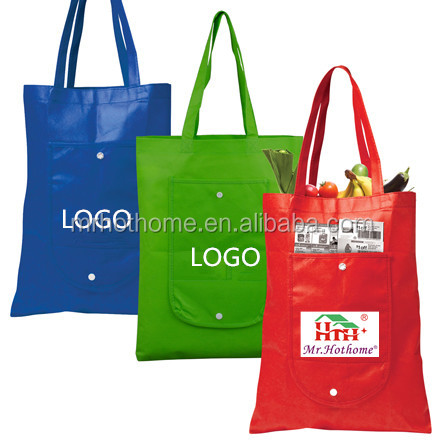 cheap shopping bags foldable non woven handle bags with custom logo printed