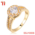 Silver jewelry engagement rings fashion 925 silver jewelry zircon inlay zircon gold plated jewelry women's wedding bands