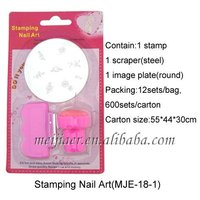2013 stamping nail art kit digital nail art palate printer flower printer