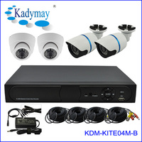 Hot sell !! 4/8/16 ch cctv camera kit indoor /outdoor 4ch h.264 cctv kit alarm security system easy to use