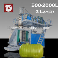 china blow molding machine 2000L 3 layer