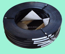 High Strength Black and Blue Tempered Metal Packaging Steel Belts / steel strapping clip/ steel strapping for packing