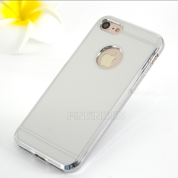 Alibaba best sellers thicken soft tpu electroplating laser carving case for iphone 7 accessories