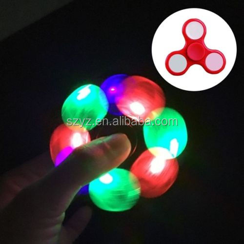 led Tri Fidget Hand Spinner fidget work Ultra Fast Bearings/Finger Toy, Great Gift