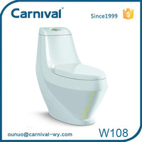 Lavatory high quality modern dual flush wash down toilet price W108