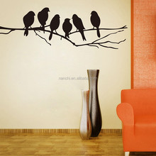 DIY Black Bird Tree Branch Wall stickers Decal Removable Art Home Mural Decor wooden art home decorations ZY8216