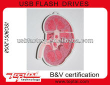 funny kidney shape soft pvc 2gb usb memory flash drives for medical doctor's gift