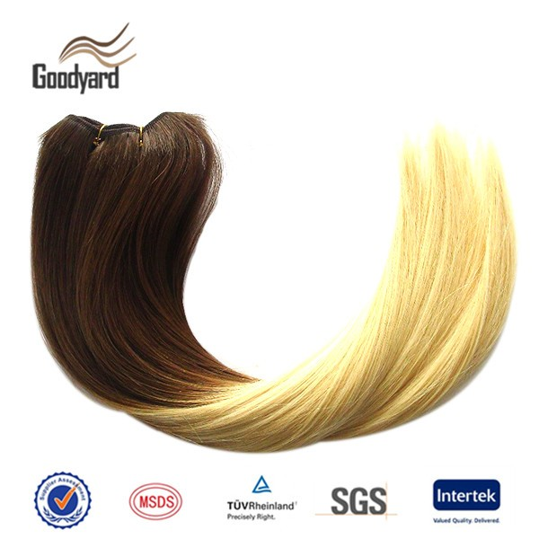Weave Human Hair Weft, Blonde Human Hair Weave,Straight Brazilian Human Hair Ombre Color Weft Human Hair Extensions