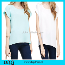 Bundle clothing t shirt wholesale sublimation t shirt plain women fitted blank t-shirts women blouses and tops
