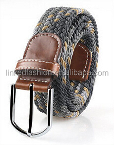 Factory Price Braided Elastic Stretch Belt for Man