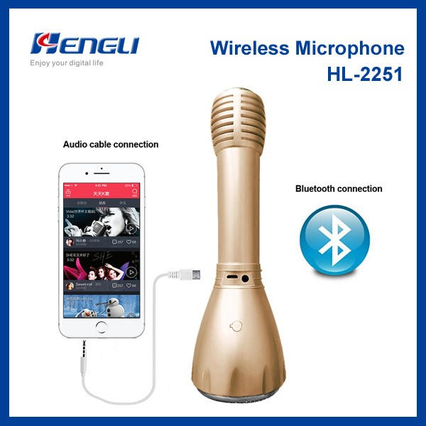 Wholesale wireless bluetooth karaoke microphone for cell phones