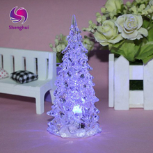 Christmas Trees Holiday Decoration LED Lighted Acrylic Battery Charging Night Light