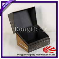 China supplier printing luxury with lid knitted cap box