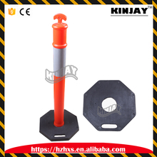 Reflective Automatic Parking Bollard Durable Roadway Safety Guide Post Plastic Safety Warning Post