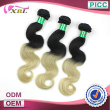 XBL Hot selling Two Colour Wholesale Wavy Cheap 100% Malaysian Virgin Hair