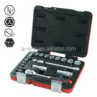 "3/8""DR 21pc Super Grip Non-Slip CR-V Socket Set"