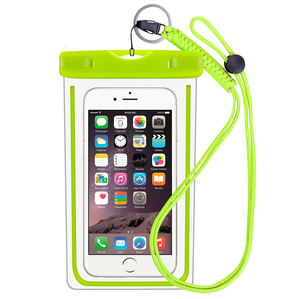 For Iphone 8 Water Sports Mobile Phone Waterproof Case Bag with Touch Screen