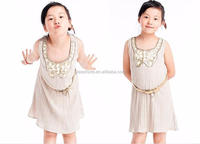 2016 baby girl latest fashion hand embroidery child designs fancy summer kids girls' party dress