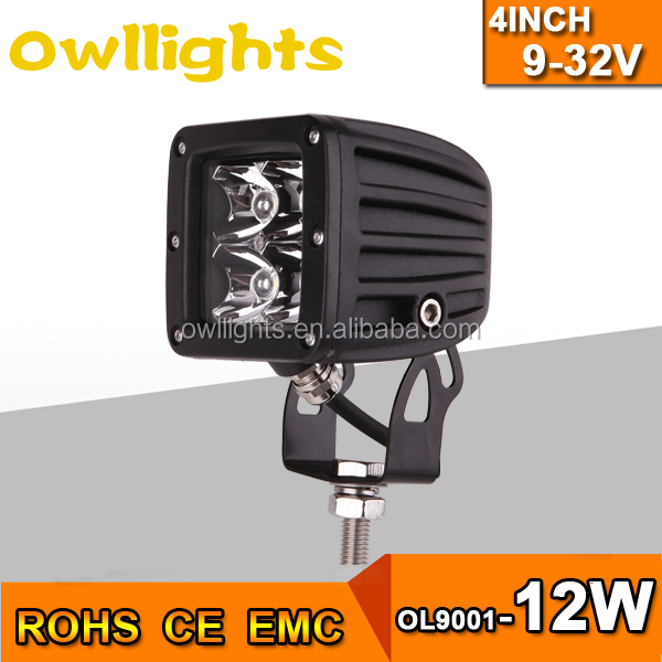 IP 68 12v/24v led work light, led work light 12w 18w 20w, 3inch led work lamp