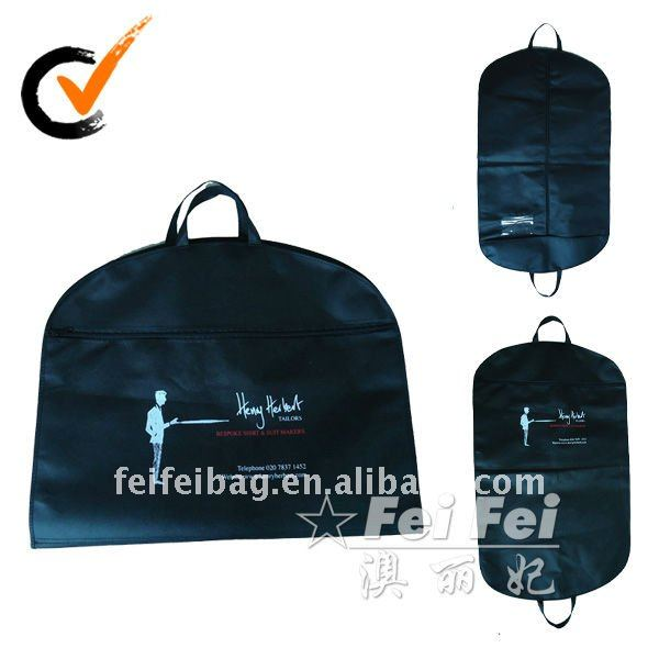 Foldable nonwoven garment bag