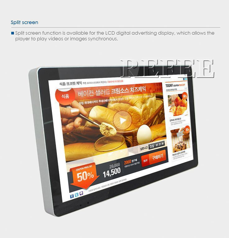 7''to 65''Wall Mounting Interactive Touch Screen Kiosk,multi points touch lcd display