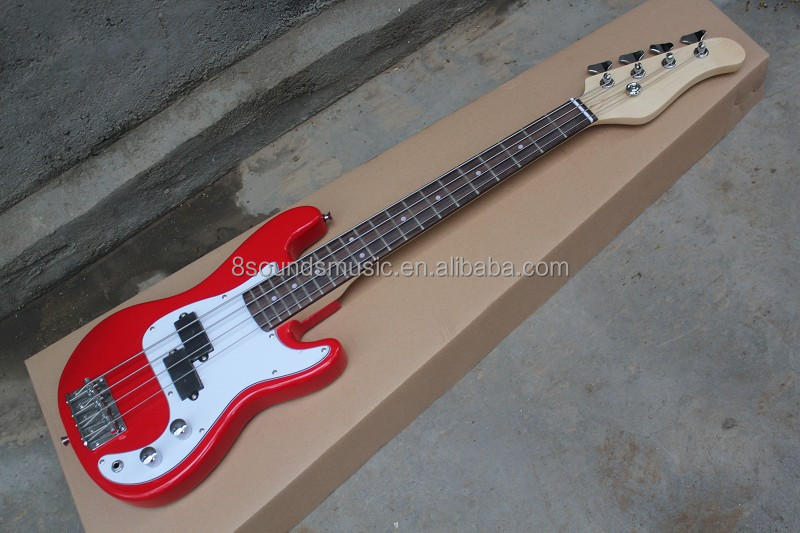 wholesale cheap mini electric bass guitar 4 string children bass can do OEM logo