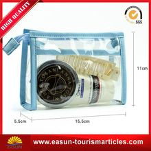 custom design clear plastic bag cosmetic bag organizer air bag travel