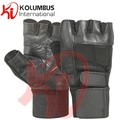 Genuine Leather Weight Lifting Gloves, Black Weight Lifting Gloves, Leather Weight Lifting Fitness Gloves For Workout
