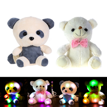 Colorful LED Panda Doll Rainbow Glowing Teddy Bear Led Stuffed Plush Toy Children Gifts for Birthday