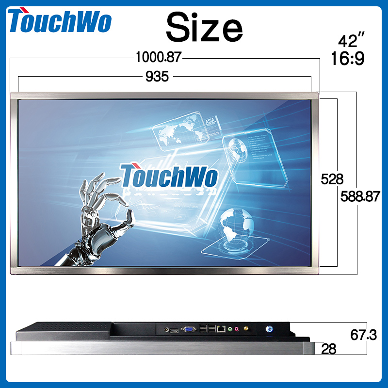 42 inch industrial all-in-one PC I3/I5/I7 RAM 2G/ DDR3/SSD/HDD core graphics